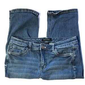 "White House Black Market ""Blanc"" slim crop jeans 8"